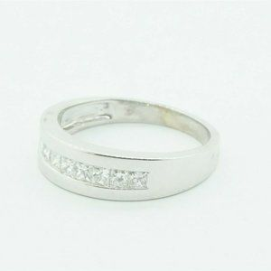 Other - Mens 14K White Gold Ring with Diamonds